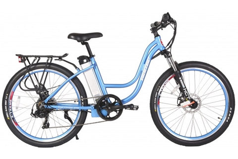 X-Treme Trail Climber Elite Step Through Commuter Mountain eBike Blue