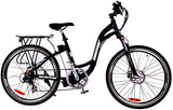 X-Treme Trail Climber Elite Step Through Commuter Mountain eBike Black Right Side