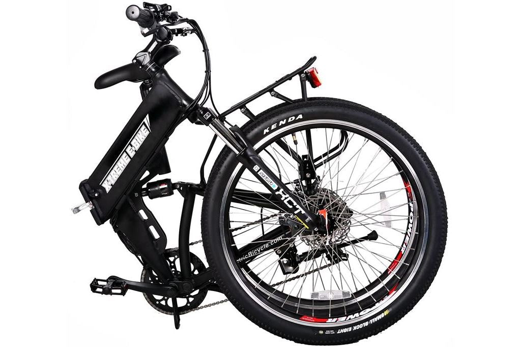 X-Treme X-Cursion Elite Folding Full Suspension Mountain eBike black folded