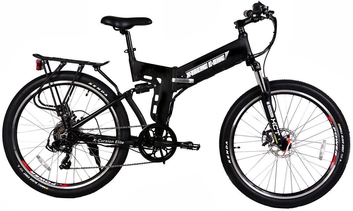 X-Treme X-Cursion Elite Folding Full Suspension Mountain eBike black right side