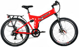 X-Treme X-Cursion Elite Folding Full Suspension Mountain eBike Red Right Side