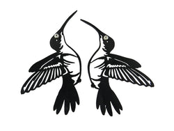 Hummingbird earrings, ladies earrings black, 80 mm