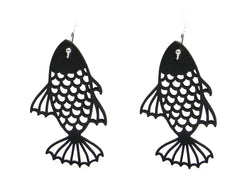 Fish earrings, women's earrings, length: 55 mm