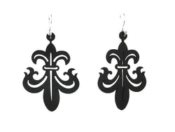 Florentine Lily Earrings, Women's Earrings, Length: 53mm, Black