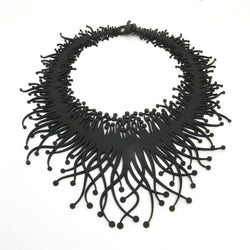 Sea anemone necklace, ladies necklace, width: 200 mm