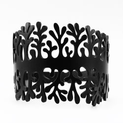 Coral bracelet, ladies bracelet, width: 53 mm, black & red