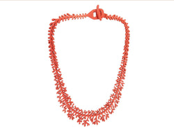 Coral necklace, ladies necklace, length: 210 mm, black & red