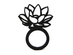 Lotus ring, ladies ring, sizes: 50, 53, 57