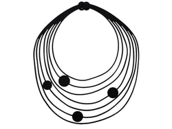 Pina necklace, women's necklace, width: 240 mm, black