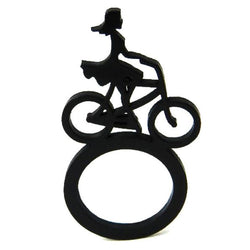 Girl on a bike Ring