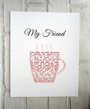 Personalised Tea Lover Gift, Coffee lover friend gift