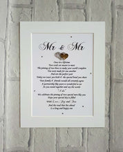 Mr & Mr - Same Sex Wedding Gift for the Groom and Groom