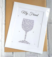 Friend Gift - Personalised Print for Wine Lover