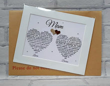 Mother of the Bride gift - Thank you gift from Bride and Groom - Unframed print