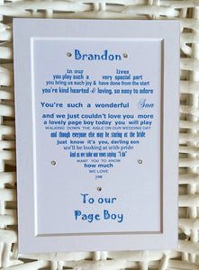 Page Boy gift