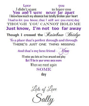 Sympathy gift for the loss of a loved one - bereavement poem