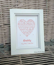 Daddy, My First Valentine - Framed Personalised Print (JERSEY only)