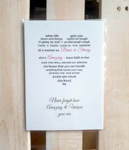 Inspirational Gift for her - Unframed Non Personalised Print 7x5