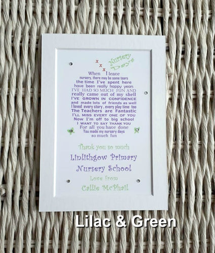 Nursery Graduation Gift - Leaving Preschool Gift