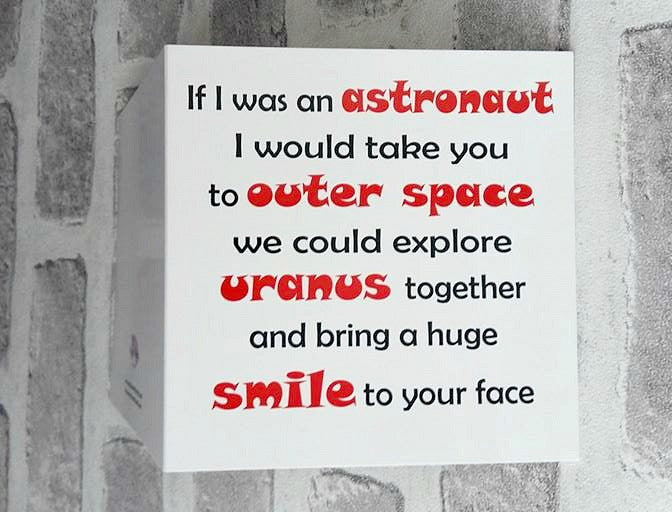 Valentine Card - Fun Astronaut Theme