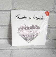 Auntie and Uncle Card
