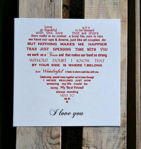 Husband or Wife card for birthday, anniversary or Christmas - Blessed