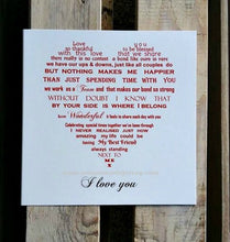 Valentine, Birthday or Anniversary Card - Blessed