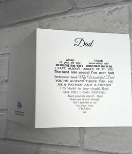 Dad card - Amazing words for an amazing Dad