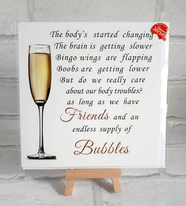 Friend Card - Champagne or Prosecco, Bubbles card
