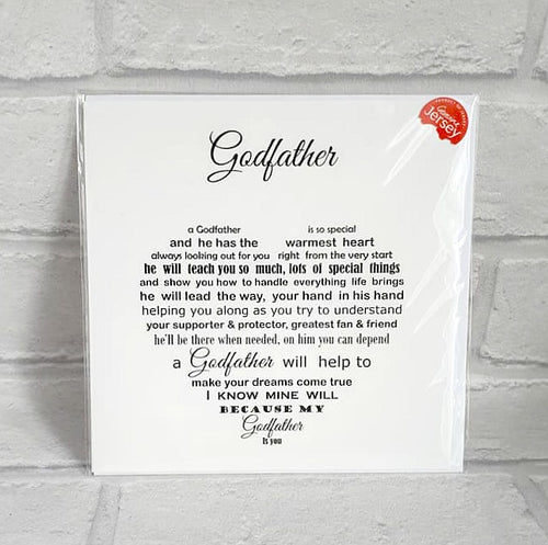 Godfather card - Thank you Godfather
