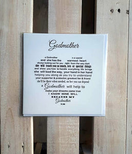 Godmother card - Godmother Birthday
