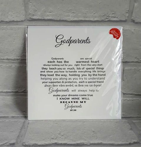Godparents card - Godparents Anniversary