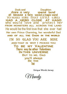 Dad, My First Valentine - Unframed Personalised Print
