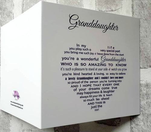 Granddaughter card for Birthday or Christmas