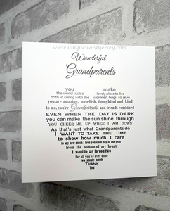 Grandparents card for Anniversary or Christmas