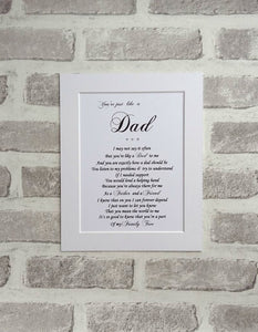 Like a Dad Gift - Unframed Personalised Print 10x8