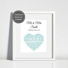 Thank you Gift - Unframed 10x8 print