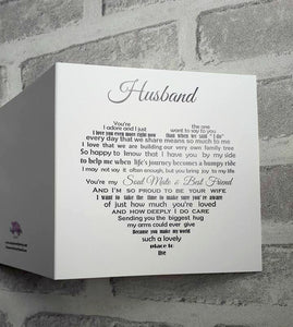 Husband card - Birthday, Anniversary or Christmas card for Husband