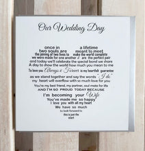 Bride to Groom card - Bride to Bride card - I'm becoming your wife