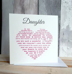 Greeting Cards Tagged Mother Daughter Unique Words Jersey