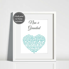 Grandparents Gift - Unframed Personalised Print