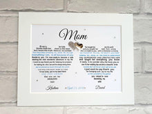 Mother of the Bride gift from Bride and Groom - Framed print