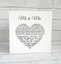 Wedding Card - Mr & Mrs