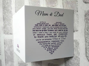 Mum and Dad card for Anniversary or Christmas