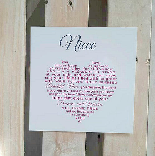 Niece card - Beautiful words for her Birthday or Christmas