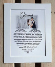 First Wedding Anniversary Gift - Unframed Personalised Print