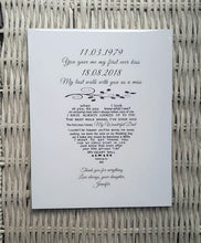Father of the Bride Gift - Unframed Personalised Print