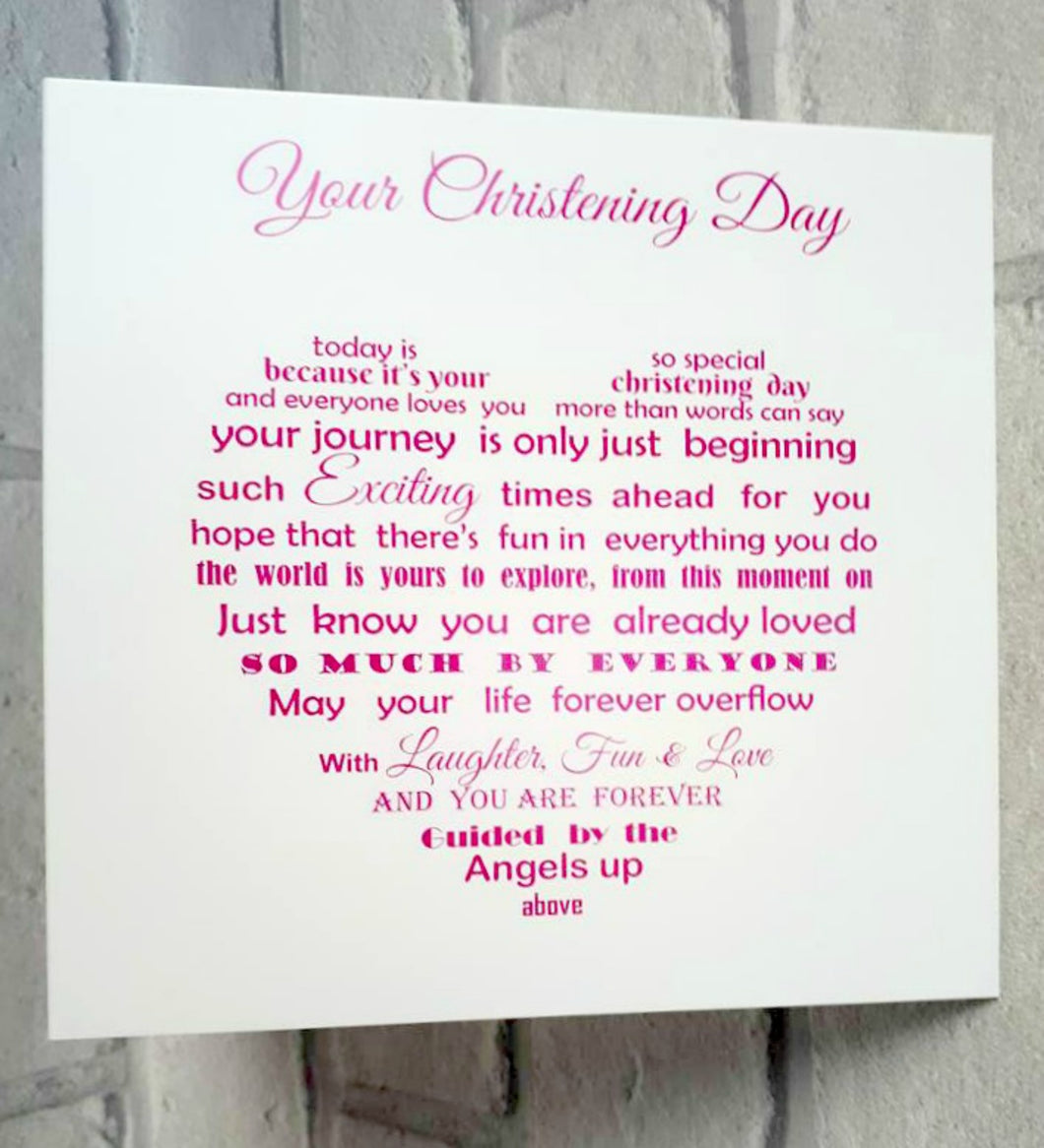 Christening Card for little girl or boy