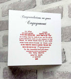Engagement card for the happy couple