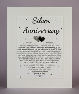 Personalised Silver Wedding Anniversary Gift